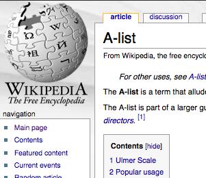 A-List (Wikipedia)